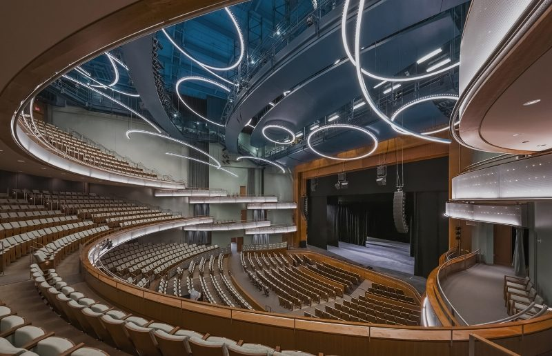 Hancher Auditorium, University of Iowa, photo by Jeff Goldberg/Esto (PRNewsFoto/Pelli Clarke Pelli Architects)